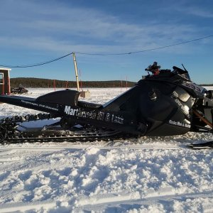 YamaCat Snowmobile Dragracing ByaCupen M&M Racing Team